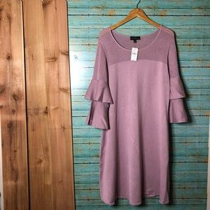 Dresses & Skirts - NWT Lane Bryant Sweater Ruffle Sleeve Mauve Pink